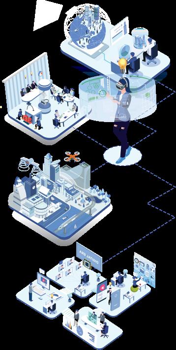 digital transformation solutions - vectors