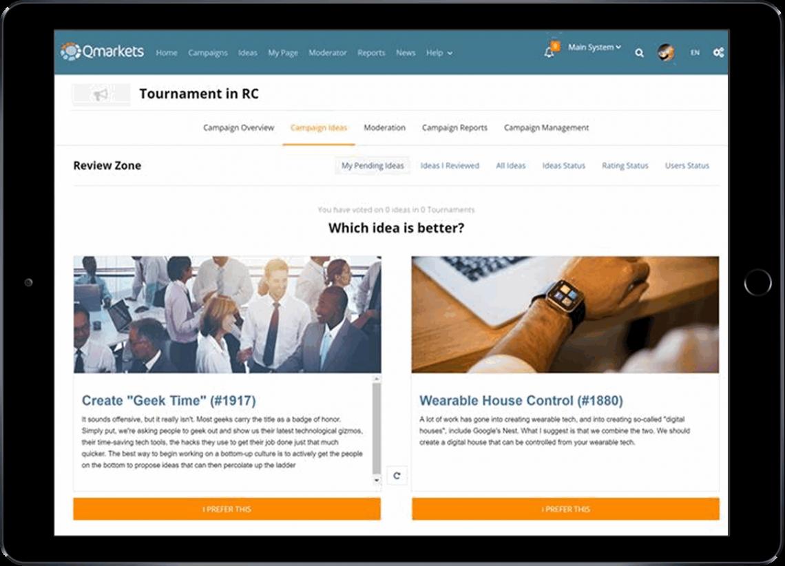 Idea Management System - tools